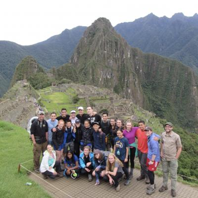 Overlake students at Machu Picchu.