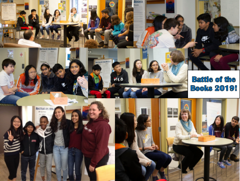 Collage of pictures of Battle of the Books 2019